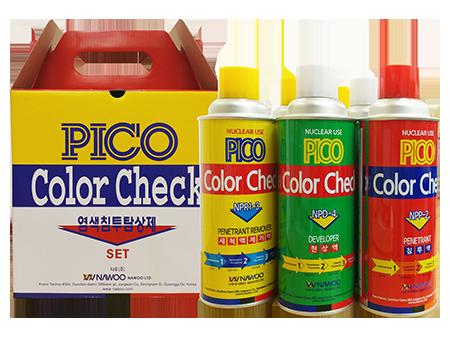 PICO 침투탐상제 (용제제거성)<br />PICO Color Check Kits