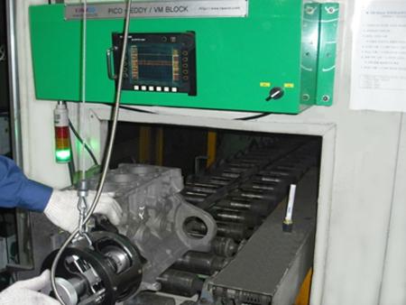 자동차 엔진블럭 와전류검사 시스템