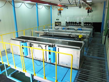 항공부품 열처리장치 검사용 침투탐상 시스템