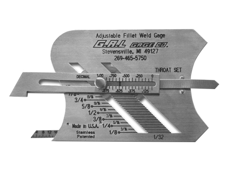 용접게이지 CAT #3<br /> Adjustable Fillet Weld Gauge